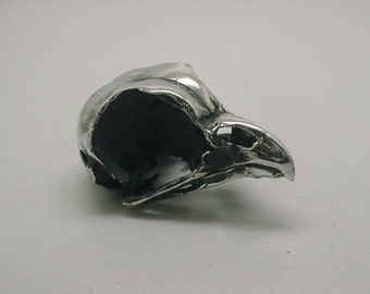 Owl Skull, Sterling Silver