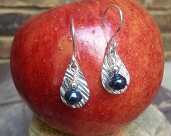 Fine Silver Teardrop Earrings