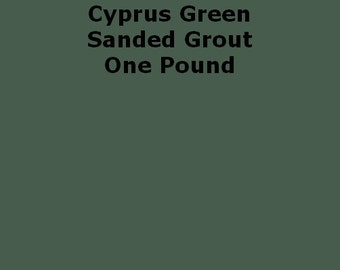 Mosaic Grout Cyprus Green SANDED One Pound