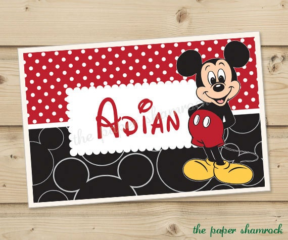Mickey Mouse - Kids Personalized Placemat, Customized Placemats for ...