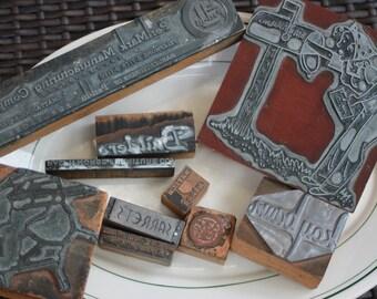 Vintage printing plates