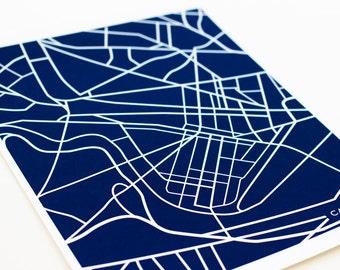 Cambridge, MA City Map Art Print / Harvard University Grad Gift Wall Art / 8x10 Dorm Decor
