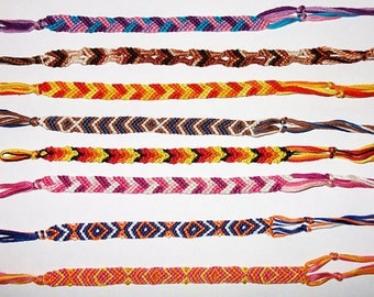 Random Friendship Bracelet Eight Strings Wide