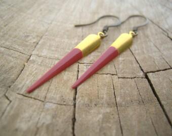 Dusky Pink Spike Earrings