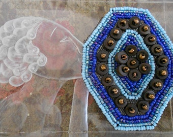 Blue Beaded Appliques