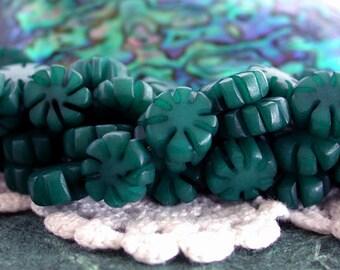 Buri Nut Beads, Buri Seed Beads, Natural Buri Nut Beads, Buri Palm Nut Beads, Flower Beads  NAT-187