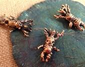 Bronze Root Baby Mandrake/Mandragora Charm Pendant