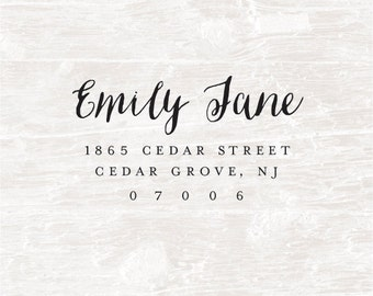 Address Stamp, Custom Address Stamp, Return Address Stamp, Self Inking Address Stamp, Pre-Inked, Calligraphy Stamp, Personalized Stamp