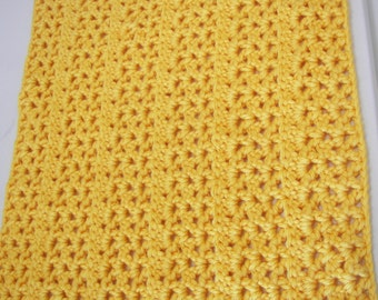 Beautiful Baby Blanket in a Bright Pittsburgh Yellow Size 20 x 26 -  Thick Soft  Blanket - Great Baby Gift- Photo Prop - Basket Filler