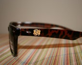 Engraved Script Monogram Sunglasses-Engraved on BOTH SIDES