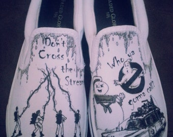 Custom Made Ghostbusters Shoes  ARTWORK and SHOES INCLUDED