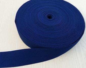 2 inch  Wide Woven Elastic Ladies Waist Belt Dress Making Flexible Strap Sewing Tape Navy Blue  -twille
