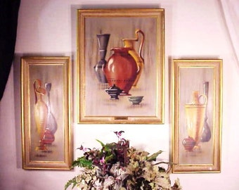 Mid Century Art Ensemble Framed Prints