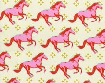 Mustang in Pink, Mustang, by Melody Miller for Cotton and Steel Fabrics, HALF Yard