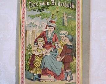 Darling Victorian Era German Book for Children: Das Neue Bilderbuch
