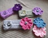 Headband with 2 Interchangeable Flowers