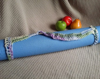 Yoga Mat Sturdy Sling Handle - US Shipping Included - Watercolor, Ready to Ship