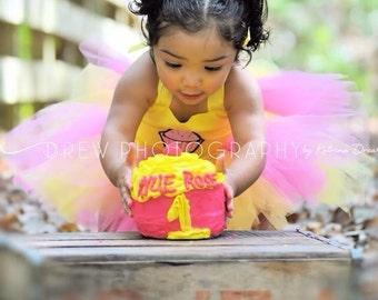 Cupcake appliquéd tutu dress