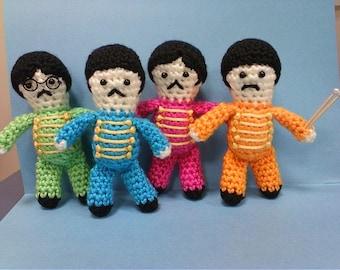Beatles Inspired Crochet Dolls