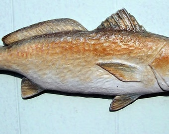 Redfish  Fish Sculpture 4 X 10 in.