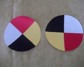 native american medicine wheel appliqués
