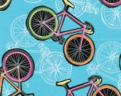 Benartex Fabric - Cool Girls - Let's Ride - Turquoise - Choose Your Cut 1/2 or Full Yard