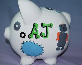 Personalized Robots LARGE Piggy Bank