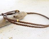 Mens bracelet wrap bracelet - Beadstheater braided friendship bracelet in waxed nylon cord