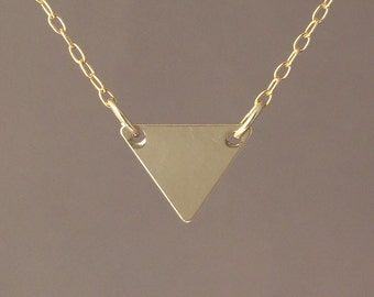Double Connected Gold Fill Triangle Necklace also in Silver and Rose Gold Fill