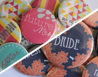 Bachelorette // Bridal Party Buttons