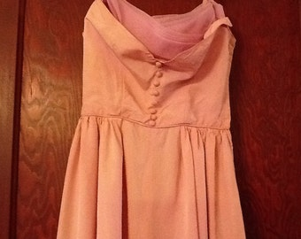 Vintage Pink Prom Dress