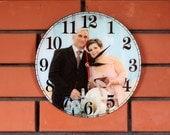 Wall clock - Custom clock - Photo clock - Poster - Personalized Wall Clock