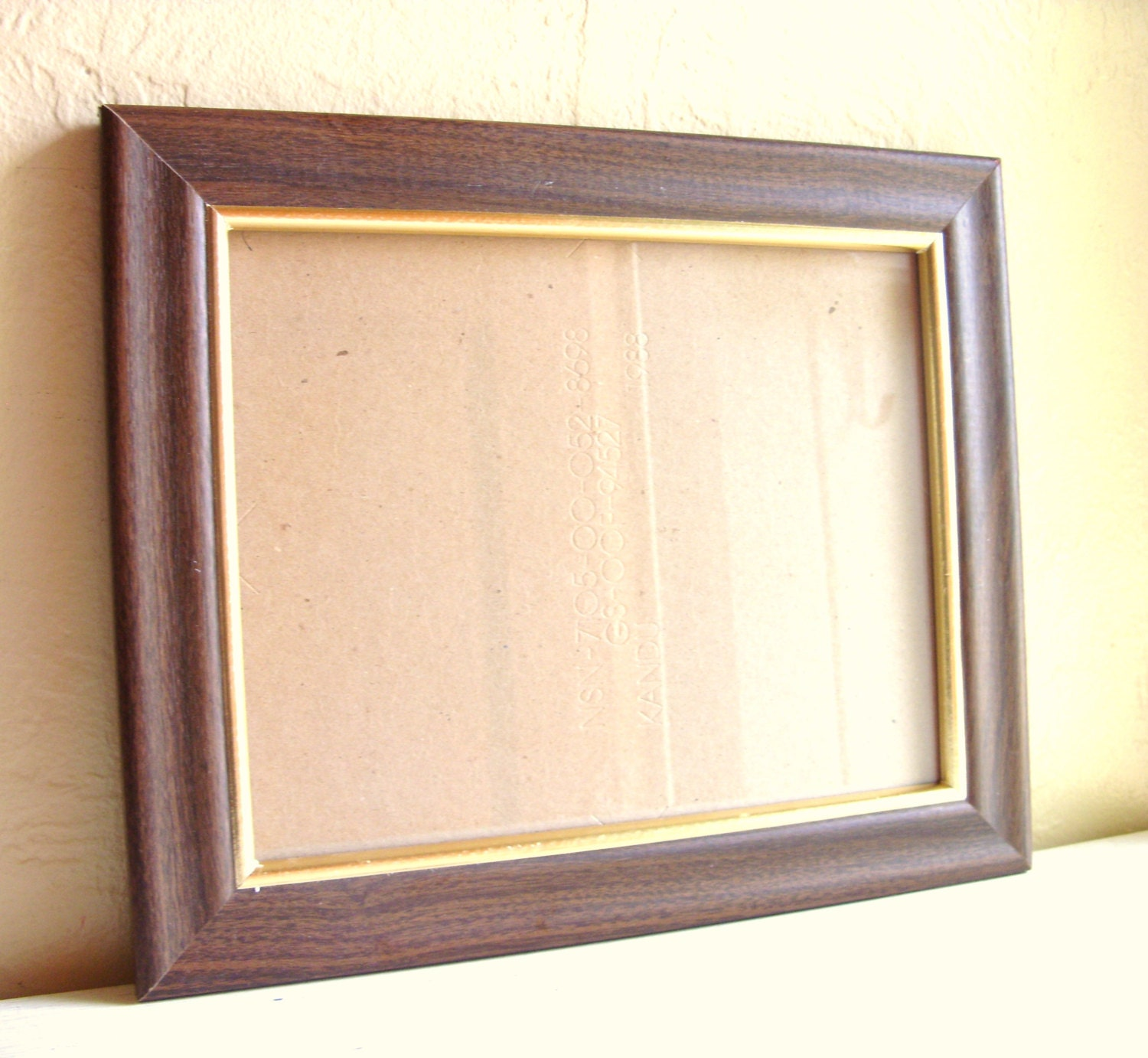 Regal Dark Wood 8x10 Picture Frames with Gold by VintageNChic