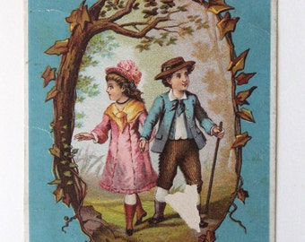 Boy and Girl Kings Wheat and Buckwheat Card