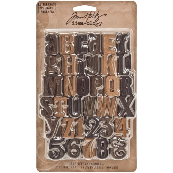 30% OFF TODAY ONLY - Tim Holtz - Idea-ology - Letterpress