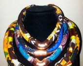 X-Small ANKARA NECK ROPES (1 Necklace) (Video link below)