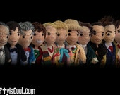 Mega Set of 14 - All 12 Doctors Who Time Travel plus War Doctor and TARDIS Crochet Amigurumi PATTERNS Doctor plus Police Box