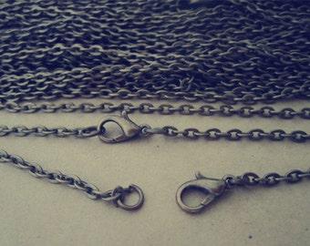 """100pcs  2mm 17inch Antique Bronze"""" 0"""" shape Link  chain"""
