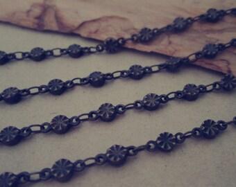 6.6ft (2m) Antique bronze (copper ) Decorative pattern  Necklace chains 4mm