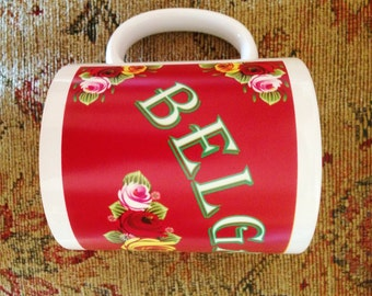 Personalised Canal Narrowboat Name mug