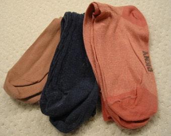 vintage lot of three pair dkny womens cotton designer socks . . . . . .  . gently worn