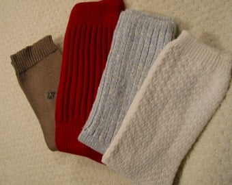 vintage lot of four pair all cotton womens socks . .