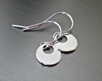 Simple Sterling Silver Earrings - Petite - Contemporary - Elegant