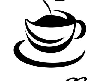 Expresso Coffee Cup Decal........Wall Art Vinyl Decal sticker