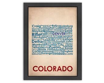 Colorado Word Map, 100% Original Design from Flatiron Design