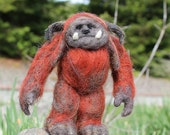 MADE TO ORDER Needle felted monster