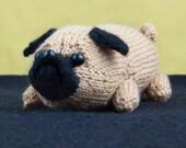 PDF Pattern - Jolly The Pug Toy Dog Amigurumi DK Knitting