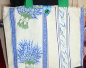 French Lavender fabric Tote Bag - Sale