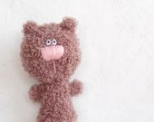 Crochet Brown Bear toy soft stuffed animal for kids amigurumi