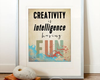 the creativity and the intelligence
